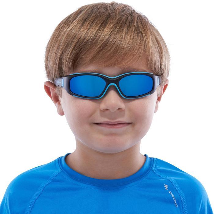 Lunettes de soleil randonnée enfant 4-6 ans KID 700 noires et bleues catégorie 4 - 1116658
