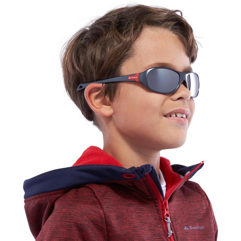 Lentes de sol de senderismo niños 7-10 años TEEN 500 gris categoría 4