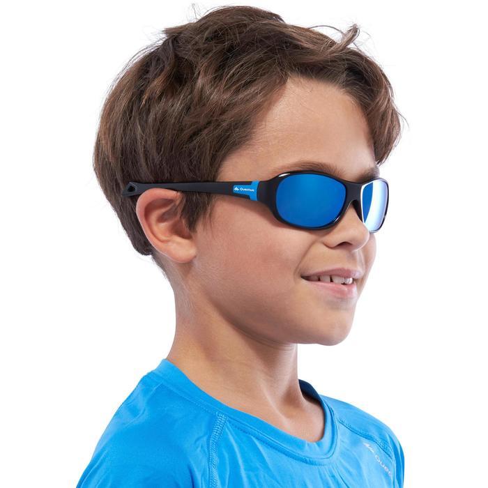Lunettes de soleil randonnée enfant 7-10 ans MH T 500 bleues polarisantes CAT3