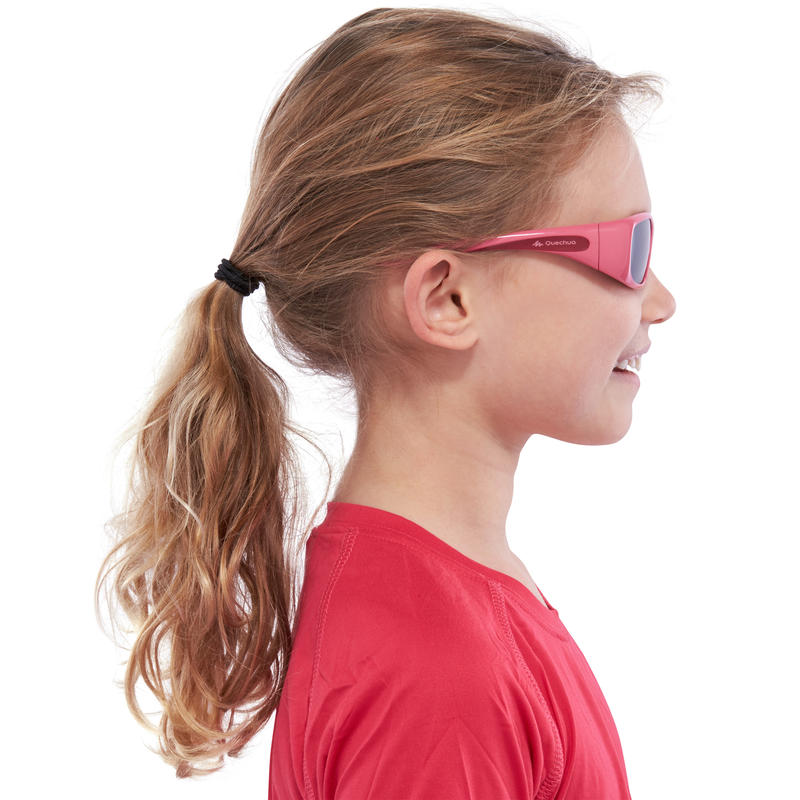 Teen 300 Kids' Hiking Sunglasses Ages 7-9 Category 4 - Pink
