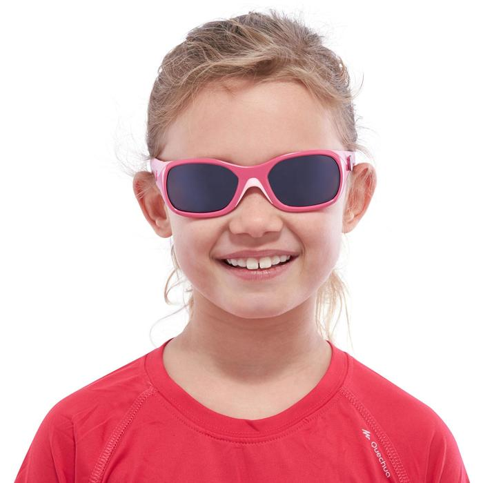 Lunettes de soleil randonnée enfant 3-6 ans KID 500 roses catégorie 4 - 1116701