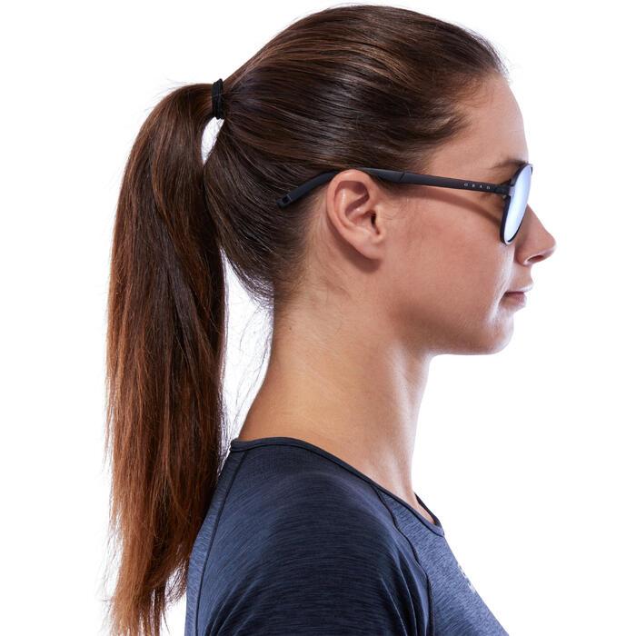 Gafas de sol de senderismo MH 500 Negro y Azul polarizadas categoría 3
