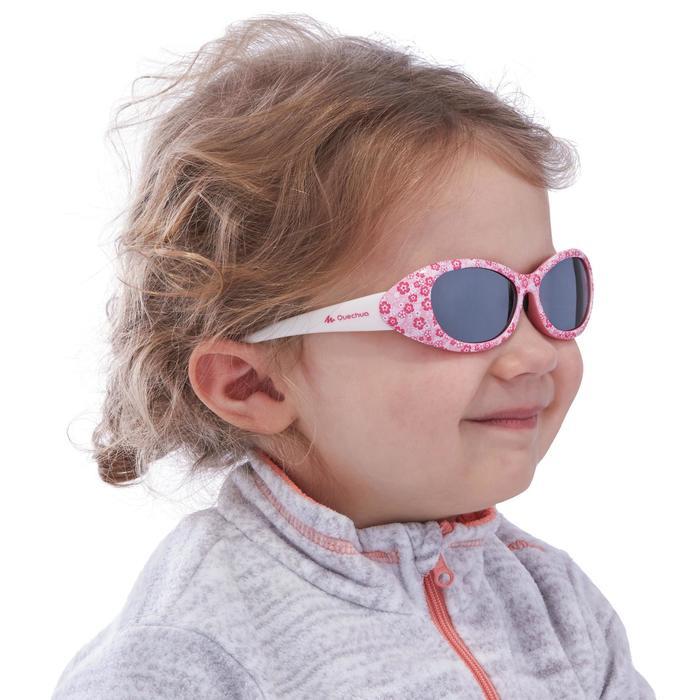 Lunettes de soleil randonnée enfant 2-4 ans KID 300 W fleurs roses catégorie 4 - 1116716