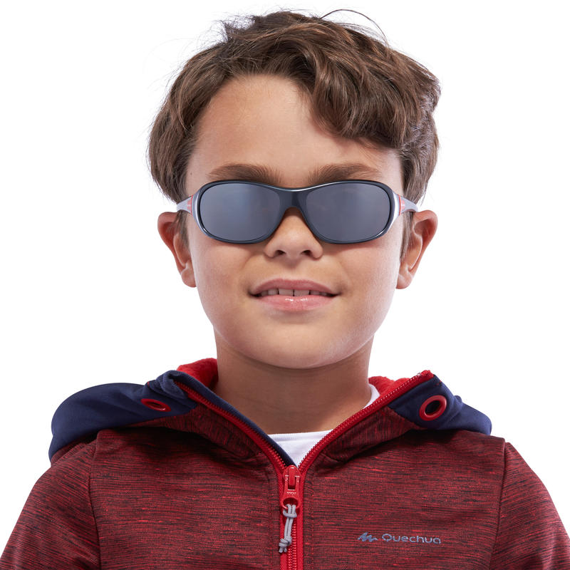 Kids' Hiking Sunglasses (Age 8-10 years) MH T500 Category 4 - Grey