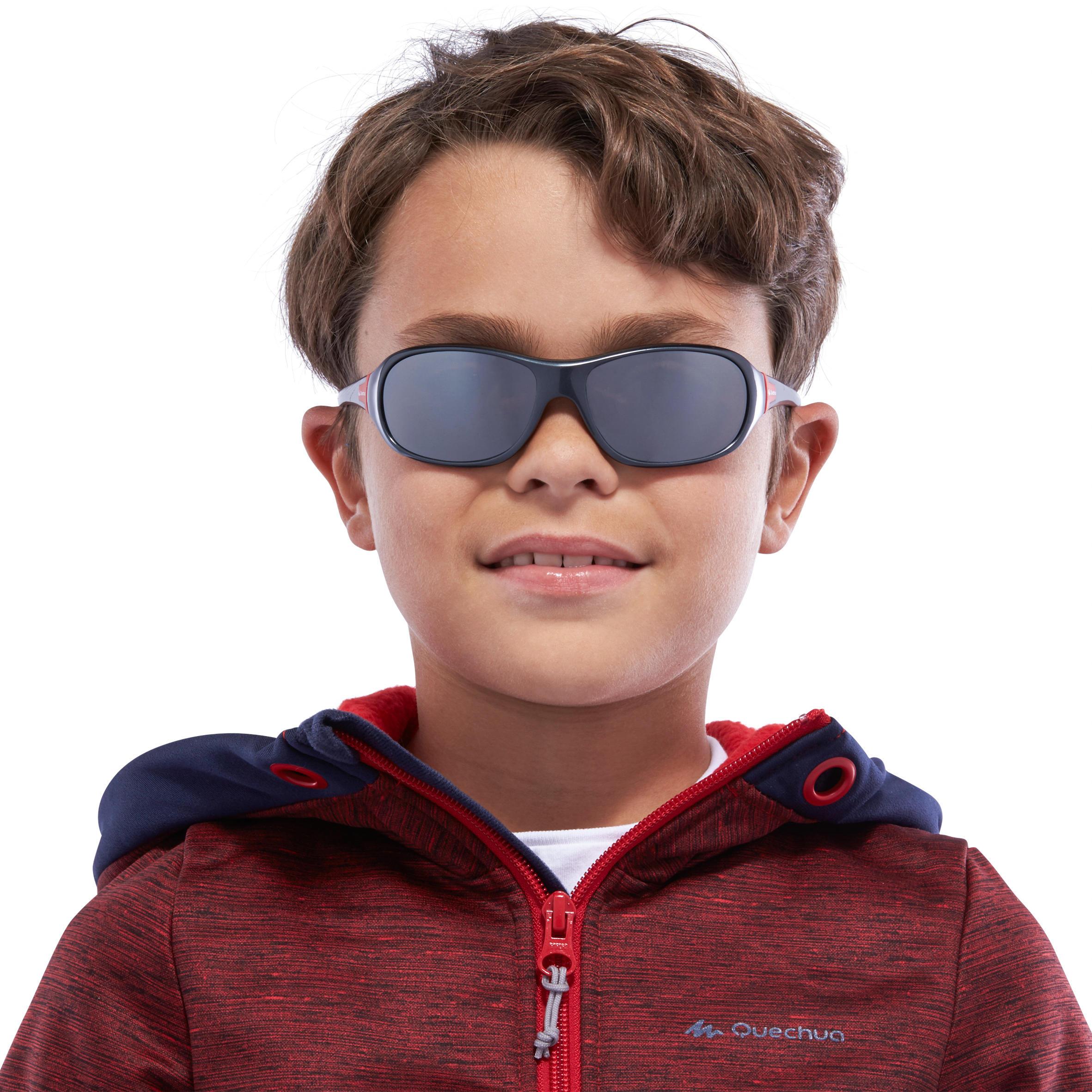 Lunettes de soleil randonnée enfant 7-10 ans MH T 500 grises catégorie 4