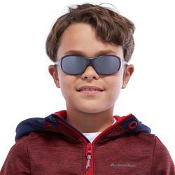 Lunettes de soleil randonnée enfant 8-10 ans MH T500 grises catégorie 4