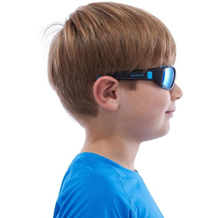 Lunettes de soleil randonnée enfant 4-6 ans KID 700 noires et bleues catégorie 4 - 1116728