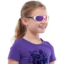 Lentes de sol de senderismo niños 7-10 años MH 500 blanco categoría 4