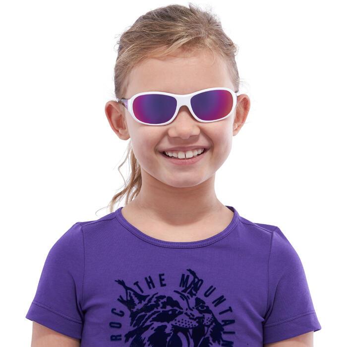 Lunettes de soleil randonnée enfant 7-10 ans MH T 500 blanches catégorie 4