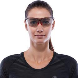 Hardloopbril voor volwassenen Running 600 rood/grijs meekleurend cat. 1 tot 3 - 1116764