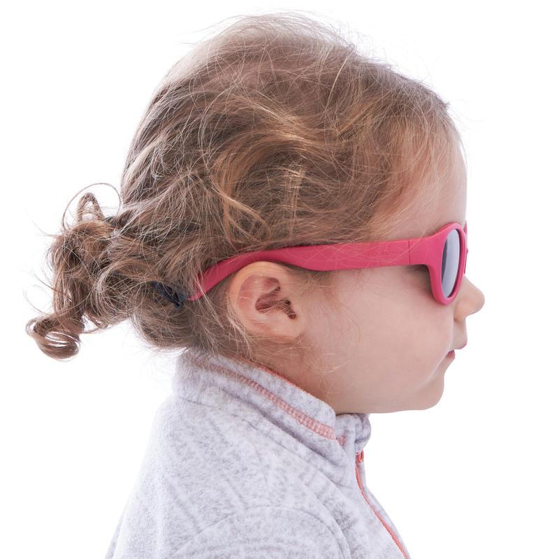 Lunettes de soleil randonnée enfant 3-5 ans MH K100 roses catégorie 3