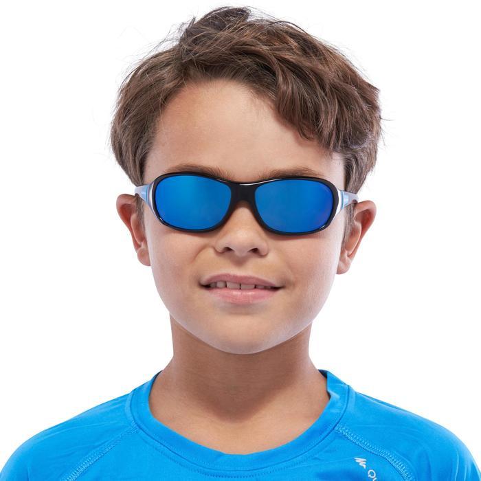 Sonnenbrille polarisierend Wandern MH500 Kategorie 3 Kinder 8-10 Jahre blau