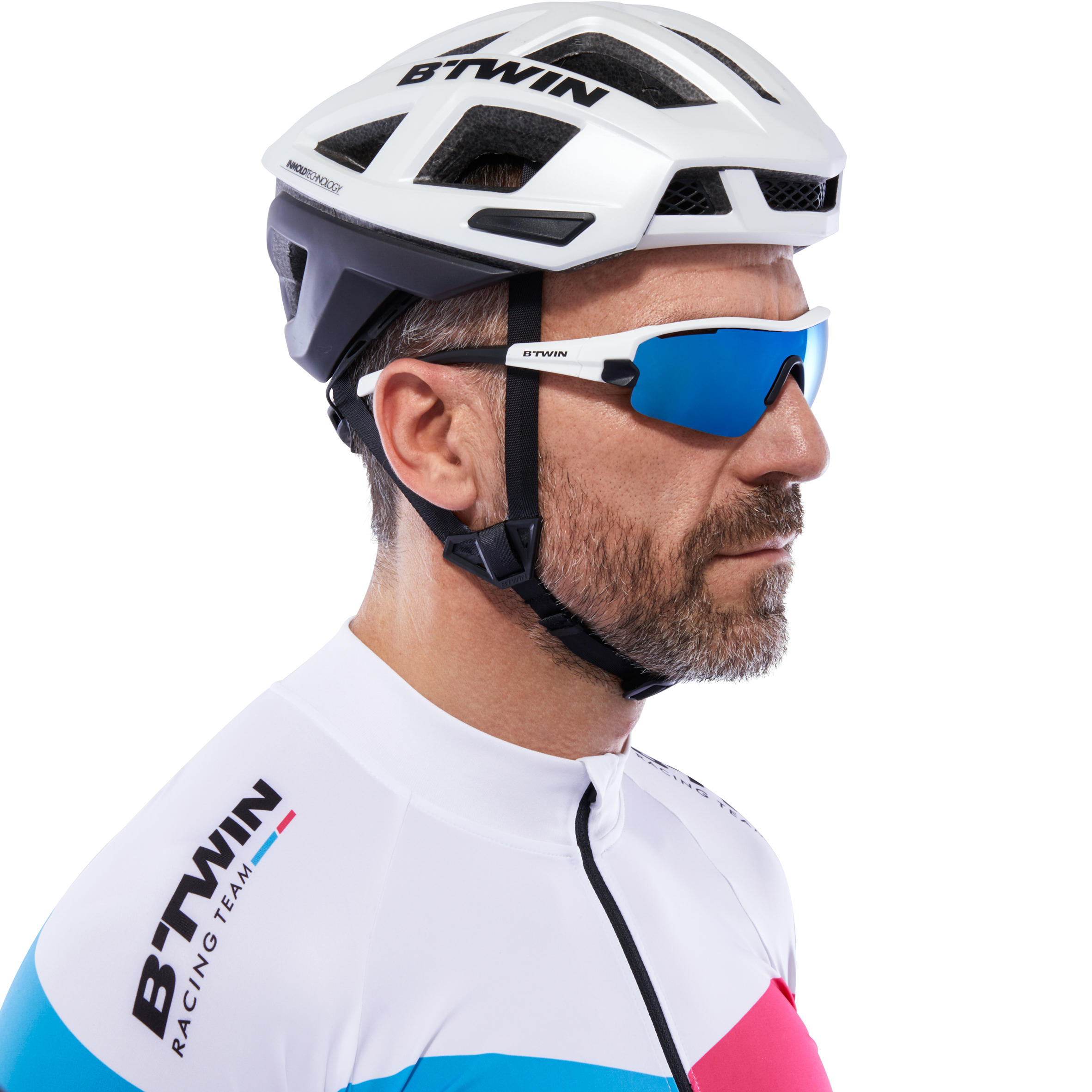 lunettes de vélo adulte ROADR 900 BLEU - 4 verres intercheangables