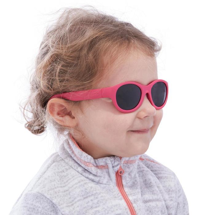 Lunettes de soleil randonnée enfant 2-4 ans MH K 100 roses catégorie 3