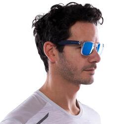 Zonnebril Walking 400 voor sportief wandelen, blauw en transparant categorie 3 - 1116838