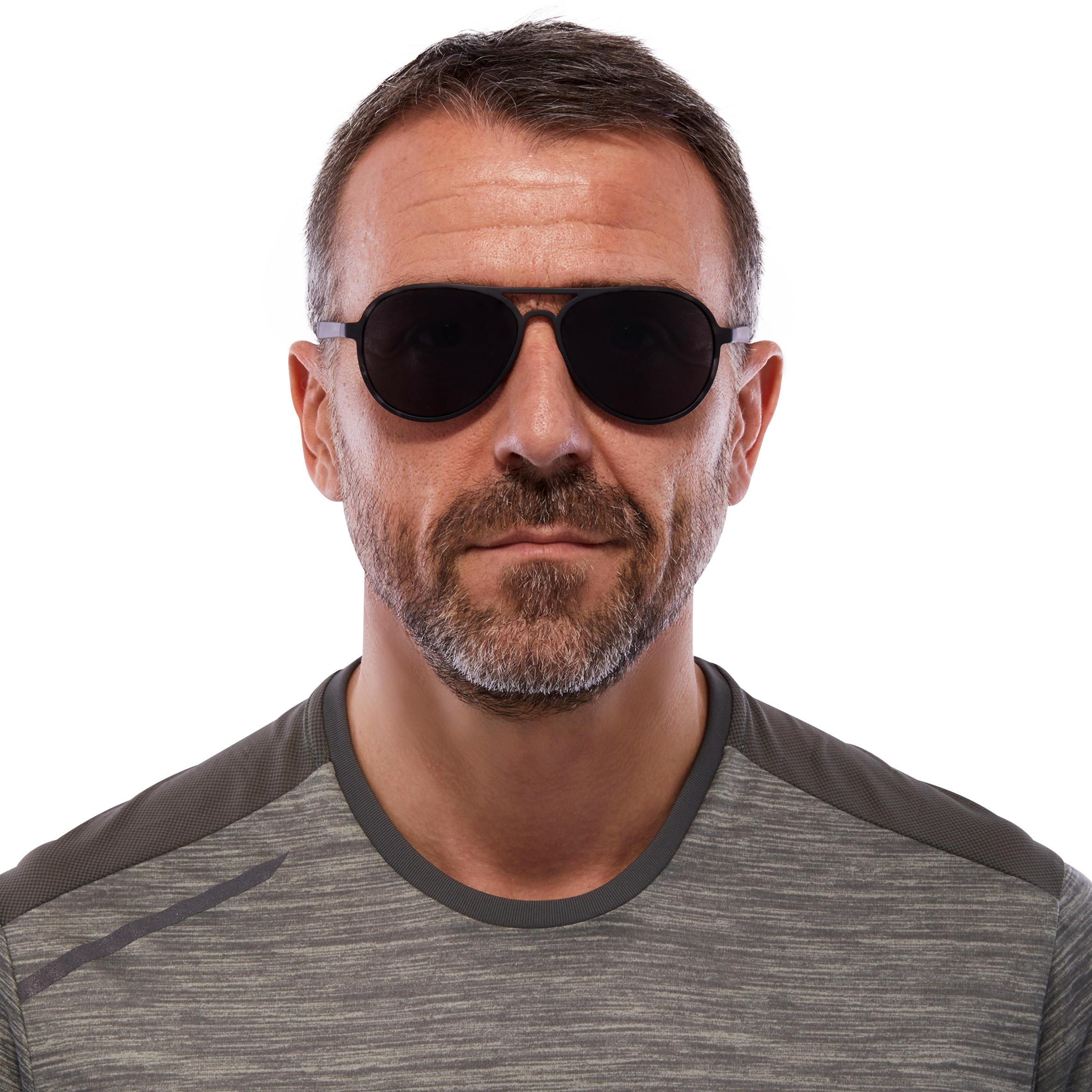 Hiking Sunglasses MH120A Category 3 - Grey/Black