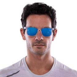 Zonnebril Walking 400 voor sportief wandelen, blauw en transparant categorie 3 - 1116873