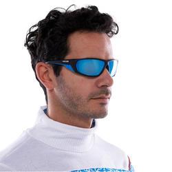 Skibrillen volwassenen Skiing 700 zwart & blauw categorie 4 - 1116890
