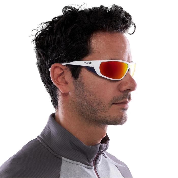 Sonnebrille MH 570 inkl. austauschbaren Gläsern Erwachsene weiß/orange