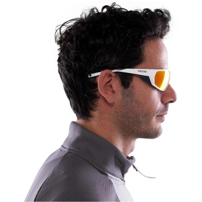 Lunettes de randonnée adulte MH 570 blanches/orange - 2 verres interchangeables - 1116909