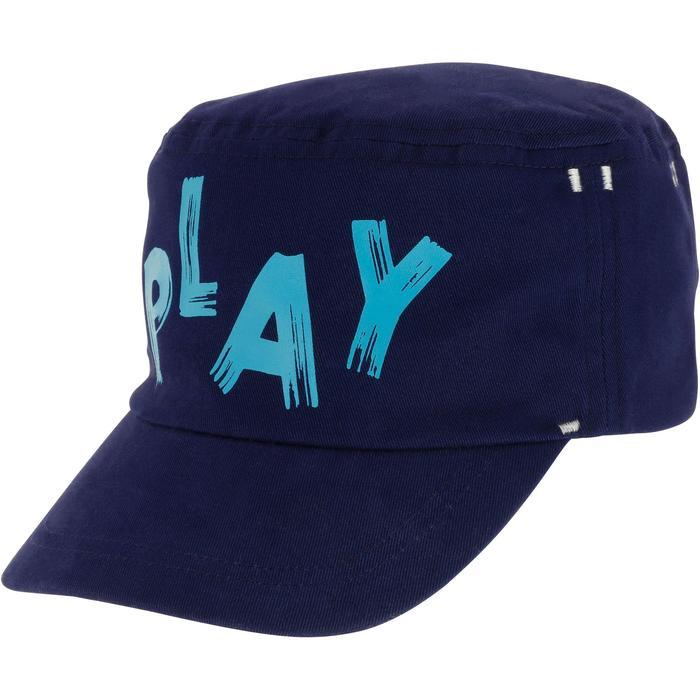 Gorra estampada de gimnasia infantil azul