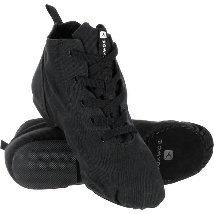 Hohe Schuhe Modern Dance Leinen schwarz