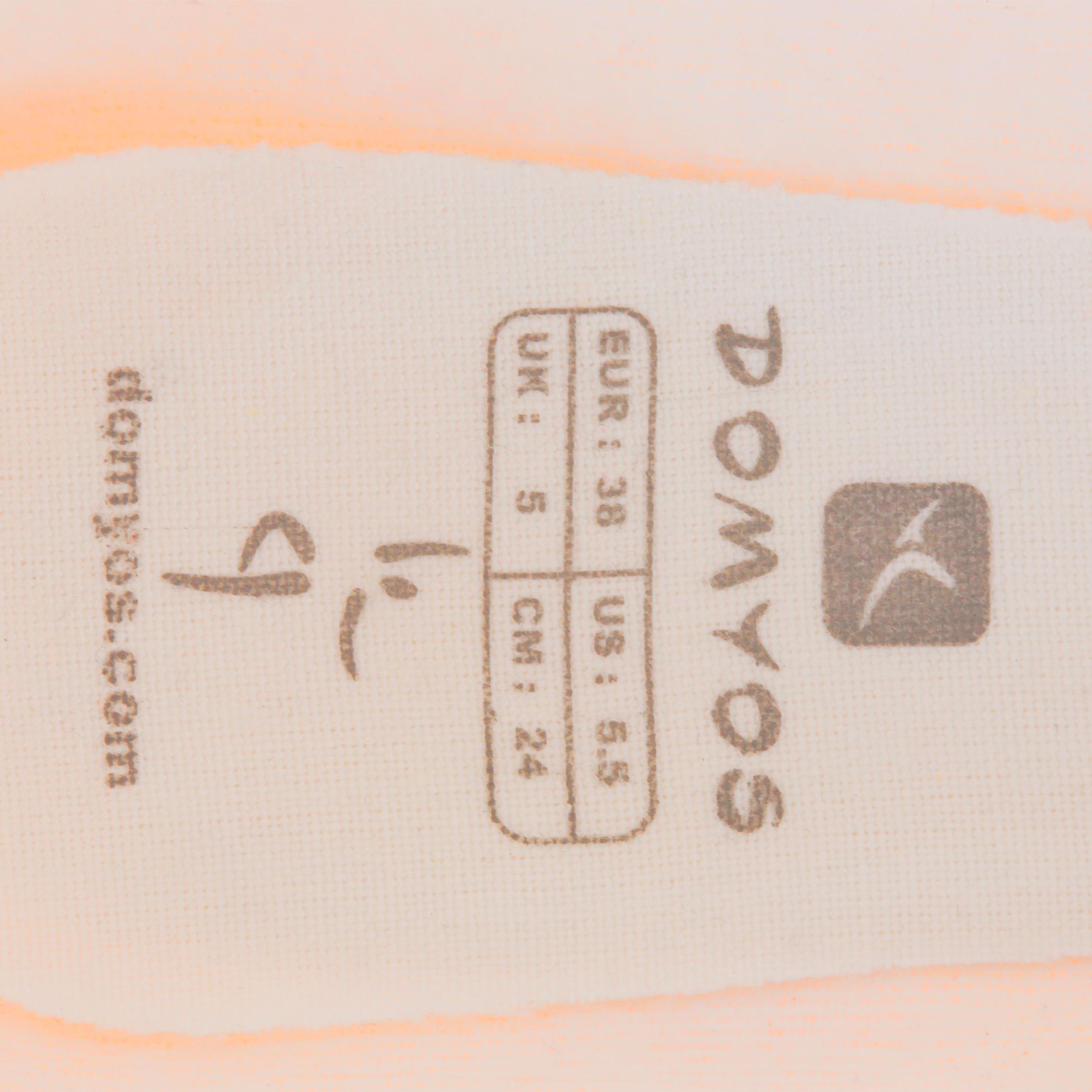 Demi-pointes toile saumon