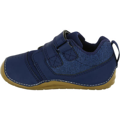 حذاء رياضي 500 I LEarn - أزرق داكن / بني