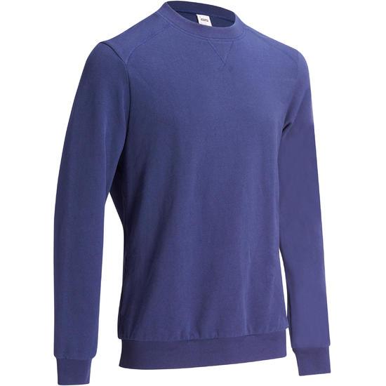 Herensweater met ronde hals voor fitness en pilates gemêleerd - 1117664