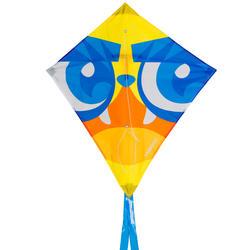 Eenlijnsvlieger IZY ruitvorm met print van een masker - 1117839