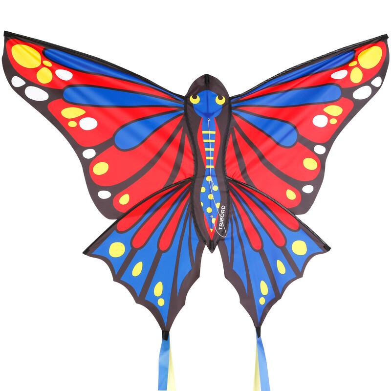 Cometa Mariposa Monohilo MFK 160 rojo/azul