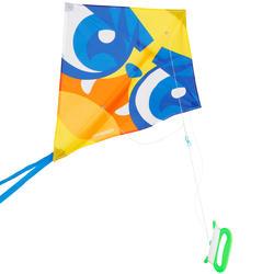 Eenlijnsvlieger IZY ruitvorm met print van een masker - 1117921