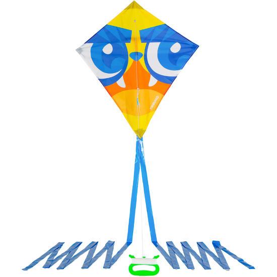 Eenlijnsvlieger IZY ruitvorm met print van een masker - 1118008