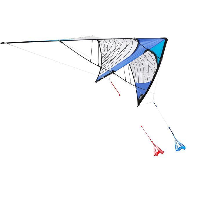 Bestuurbare vlieger R244 met carbon stokken