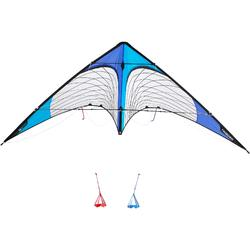 Cometas acrobáticas Playa Orao E R244 Blanco/Azul Tubos Carbono Freestyle