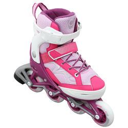 兒童直排輪Fit 3 - 粉色/白色