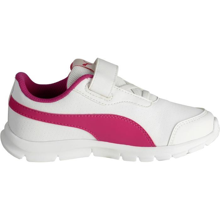 Chaussures marche sportive enfant Flex Racer blanc /  rose - 1118301