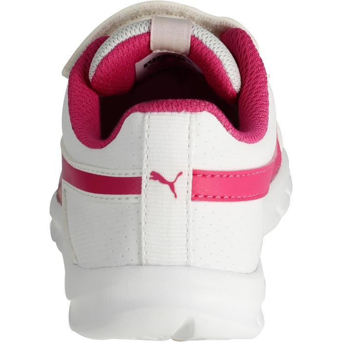 Chaussures marche sportive enfant Flex Racer blanc /  rose - 1118311