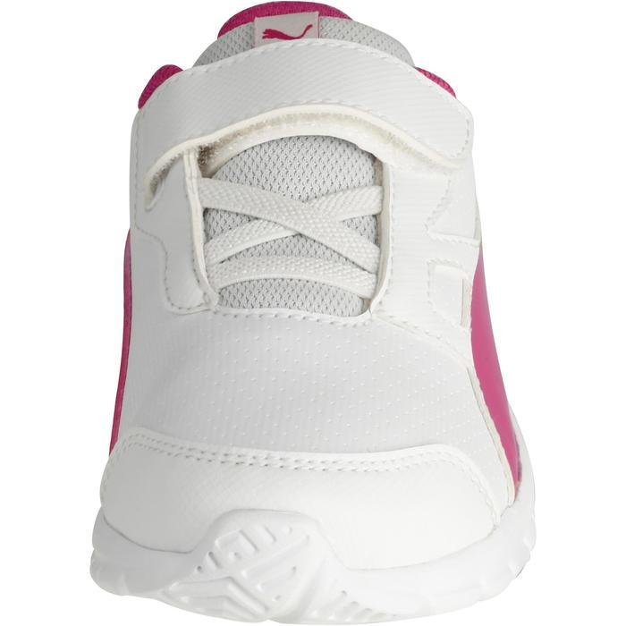 Chaussures marche sportive enfant Flex Racer blanc /  rose - 1118313