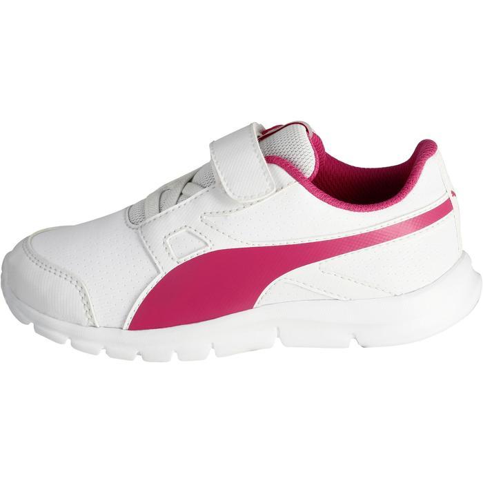 Chaussures marche sportive enfant Flex Racer blanc /  rose - 1118315