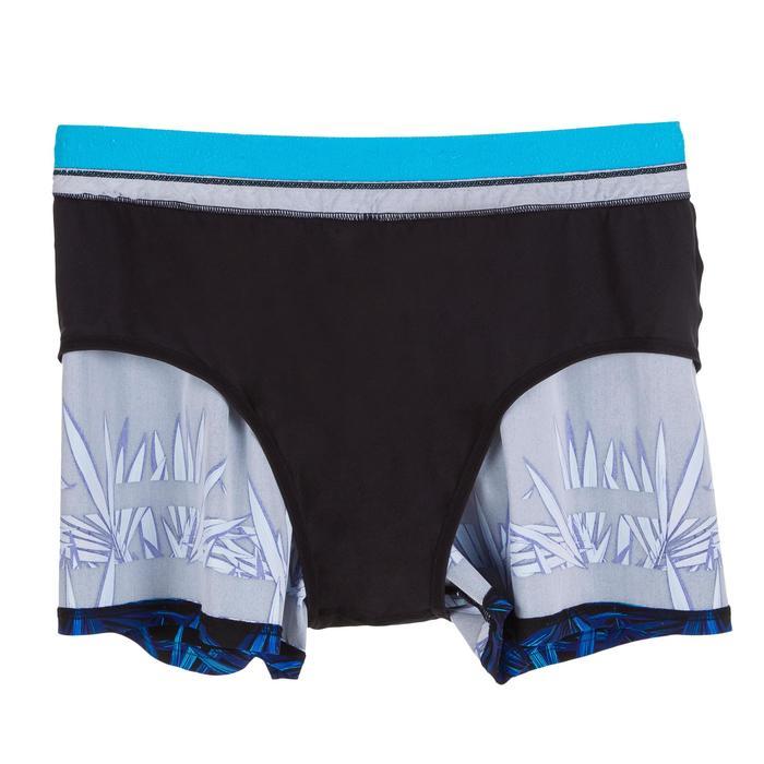 Korte zwemshort 100 heren Opi zwart/blauw