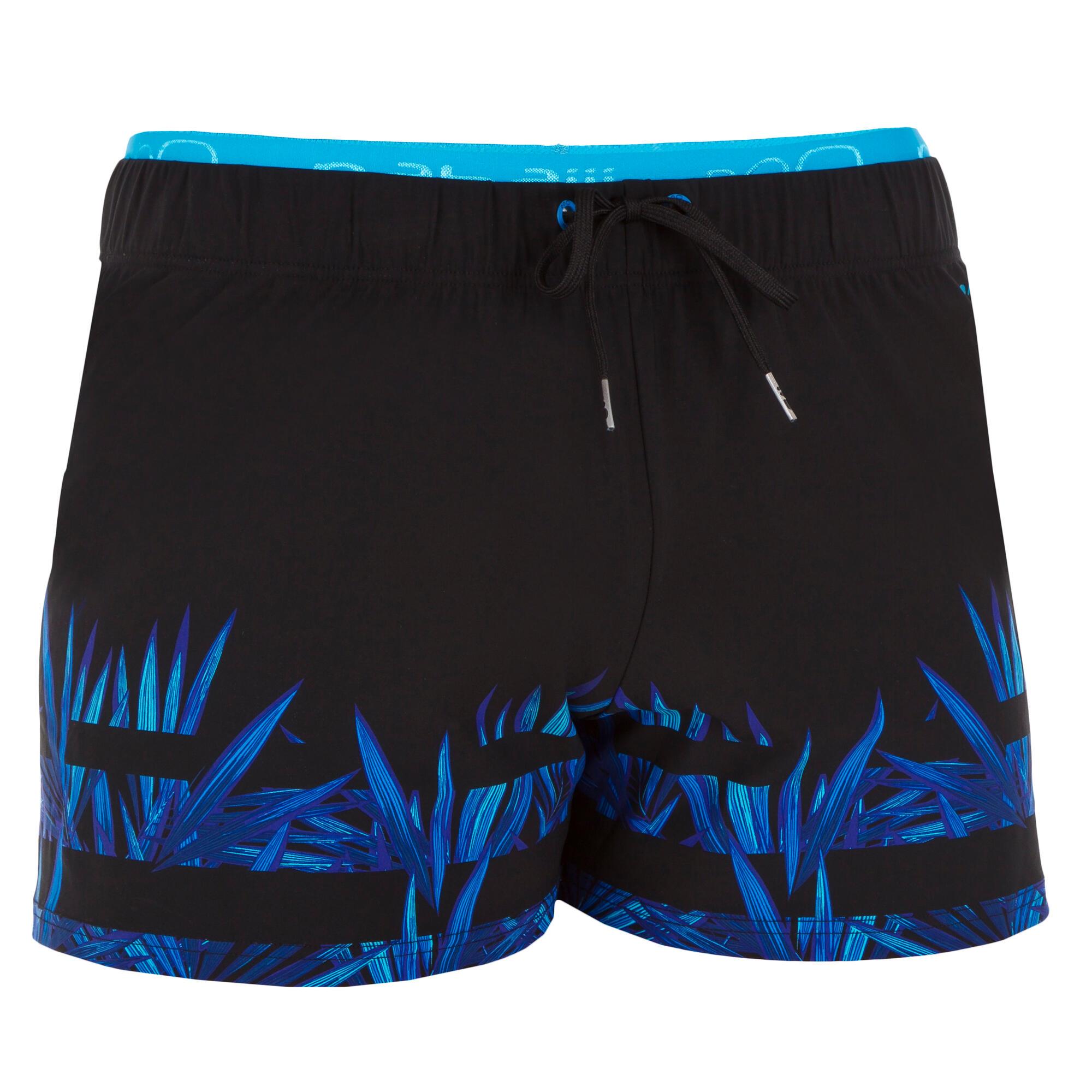 Maillot de bain homme swimshort 150 court opi noir bleu nabaiji - Maillot de bain piscine decathlon ...