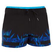 Črne in modre moške plavalne kratke hlače 150