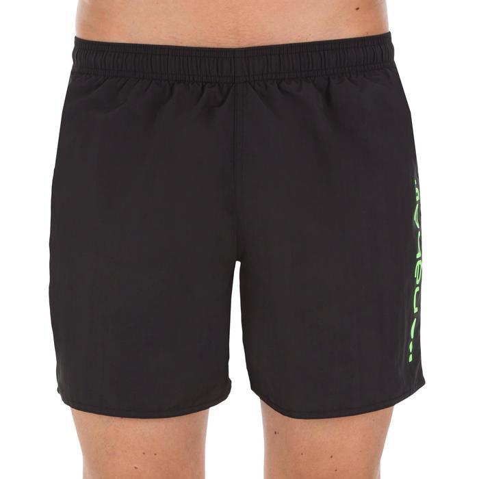 Schwimmshorts 100 Basic Herren schwarz/grün