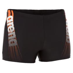 Zwemboxer Pack voor heren zwart/oranje