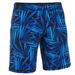 男款游泳短版平口式泳褲 190 LONG ALOPIL 藍
