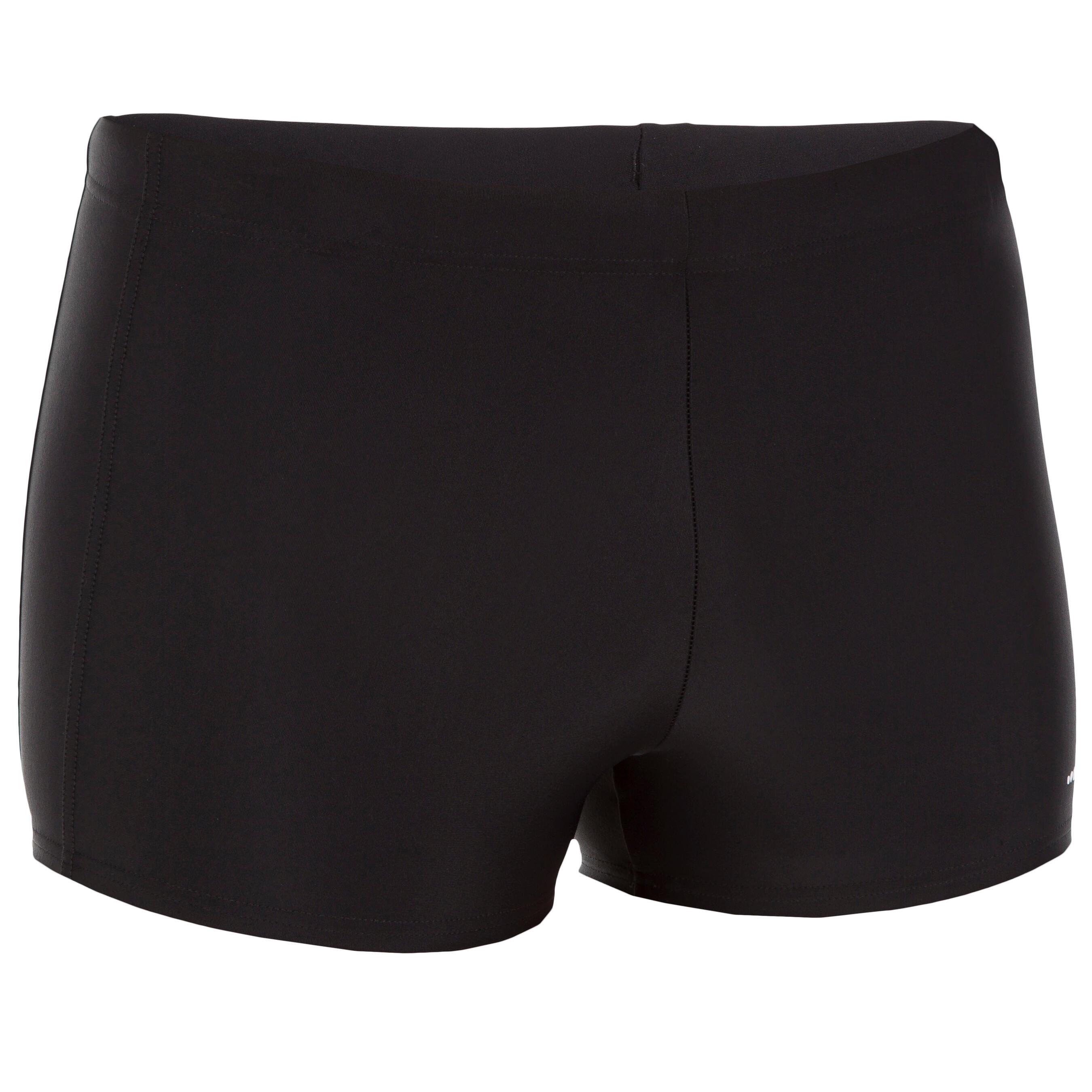 100 PLUS PIP MEN'S BOXER SWIM SHORTS - BLACK