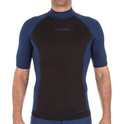 Thermo-Shirt UV-Schutz kurzarm 900 Neopren Herren schwarz/blau
