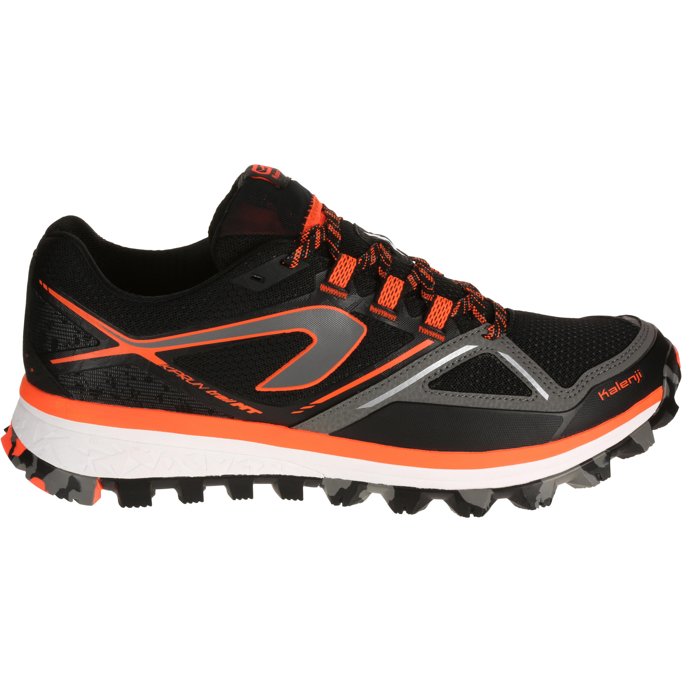 KIPRUN TRAIL MT MEN'S TRAIL RUNNING SHOES - BLACK ORANGE