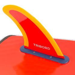 "Vin 5.5"" soft edge voor foam surfboard 900 5'4 oranje."